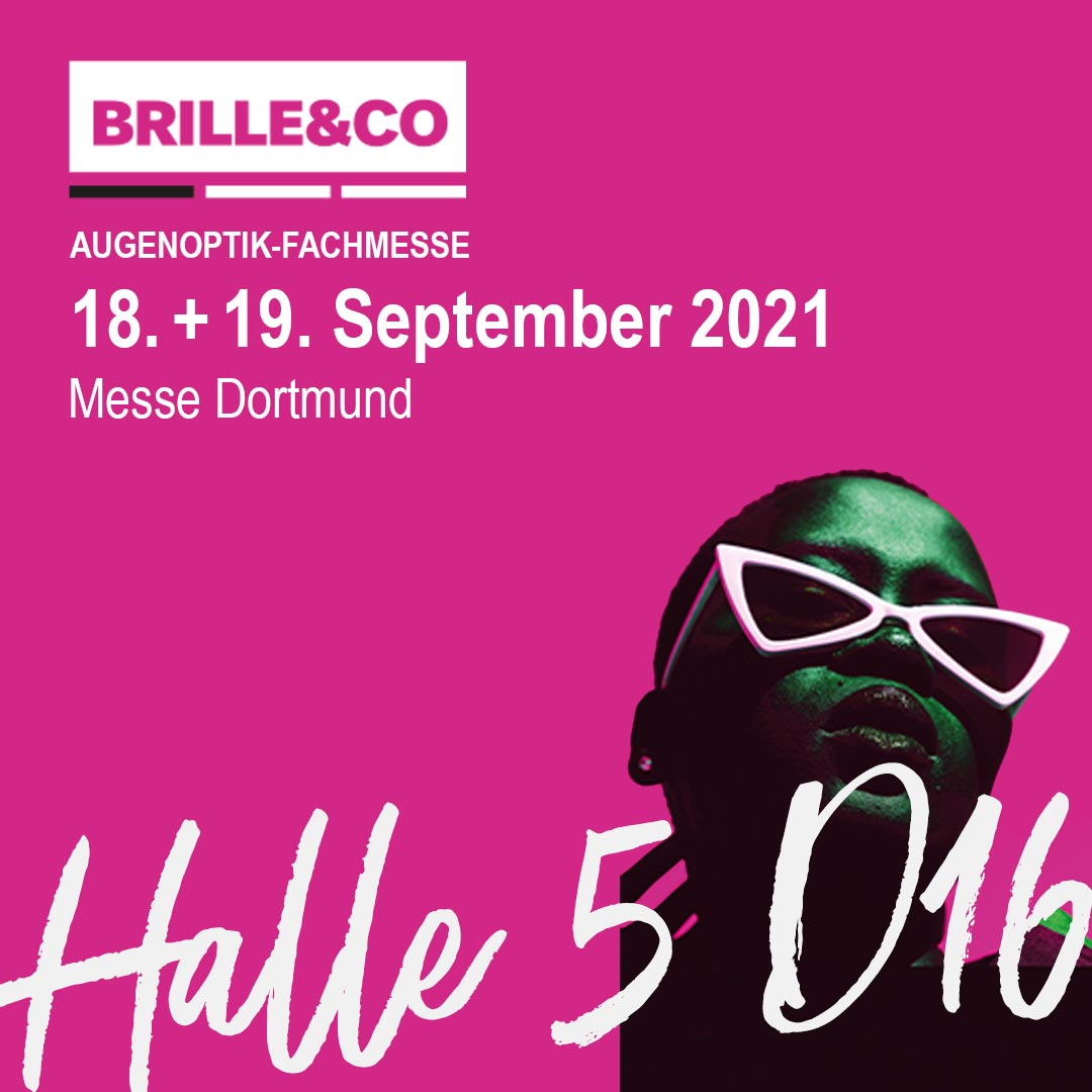 Brille & Co Halle 5 D16 Messestand